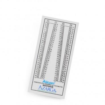 Tonometers ruler