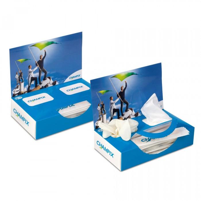 Кутия - маски, ръкавици, шпатули за гърло