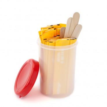 Кутия със шпатули за гърло